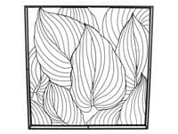 Orchis Black Leaves Wirework Metal Wall Art